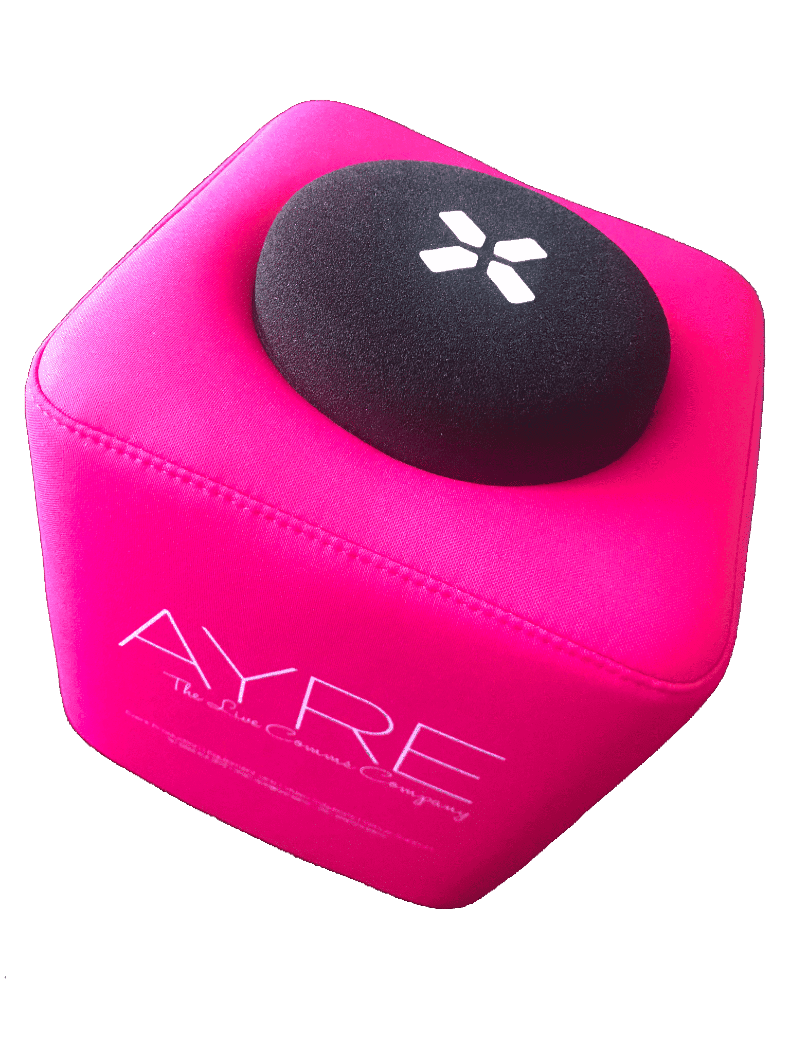 AYRE branded Catchbox microphone
