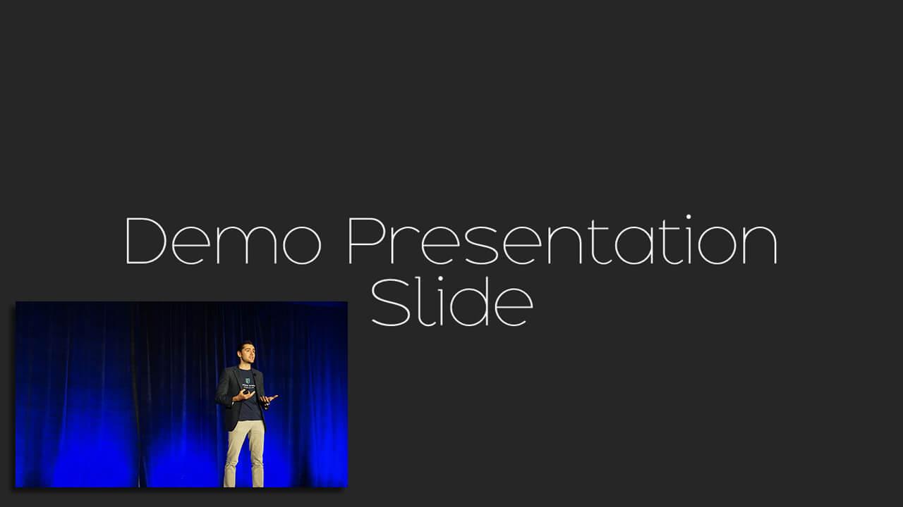 Large Presentation Small Camera Live Stream Example