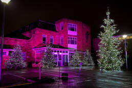 Outdoor lighting at St Gemma's Hospice Virtual Light Up a Life Event 2020